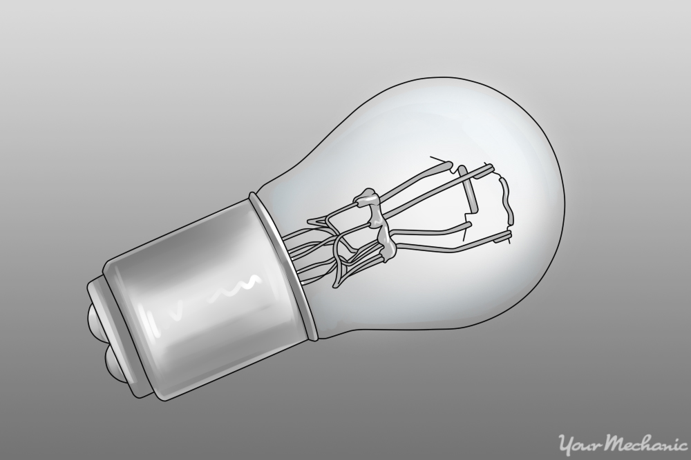 side view of a bulb showing alignment pins