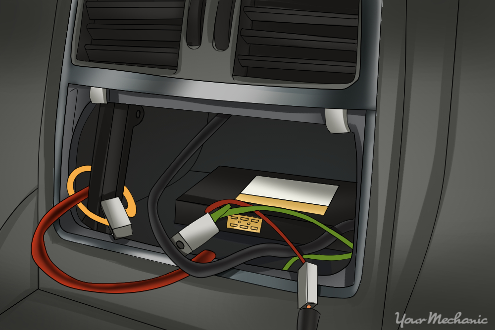center console with wiring harness