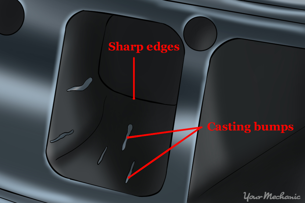 casting bumps and sharp edges