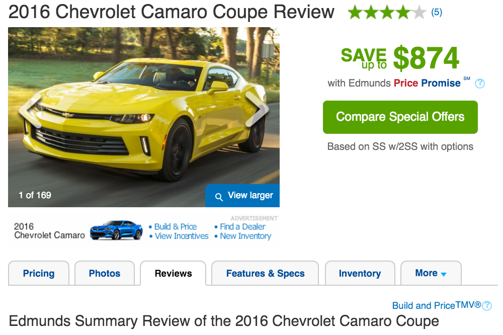 2016 camaro review