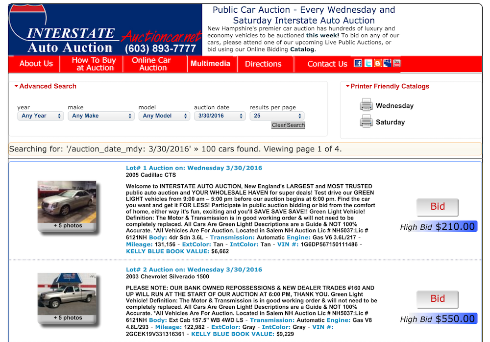 car auction site