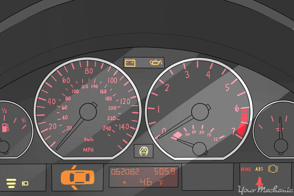 vehicle warning lights appearing on dash