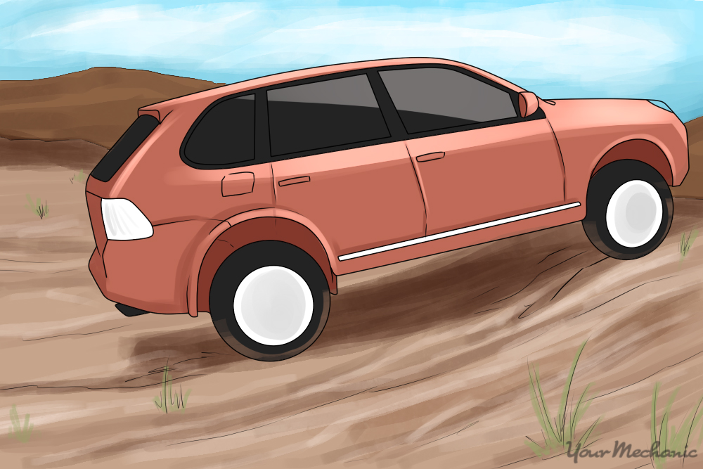 vehicle driving offroad