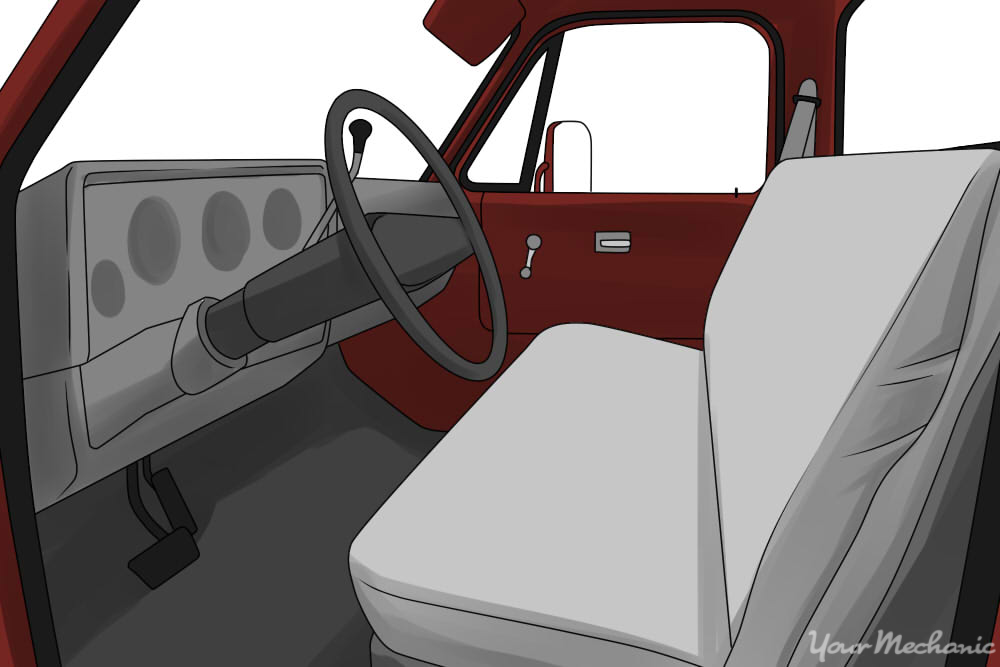 bench seat in a pickup truck