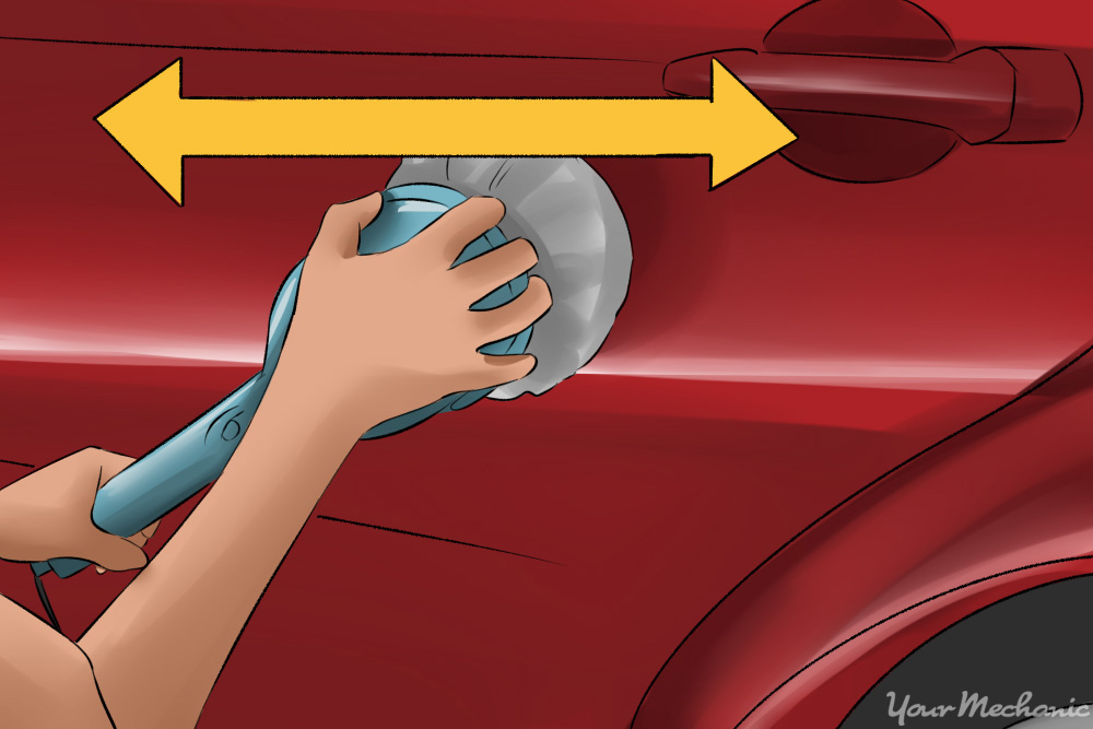 buffing a car in side to side motion