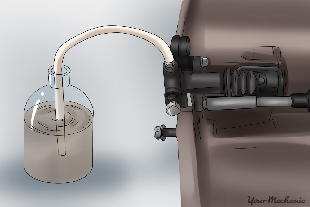 slave cylinder sketch with aquarium tubing
