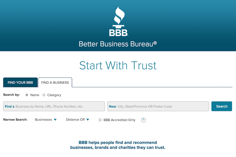 BBB site
