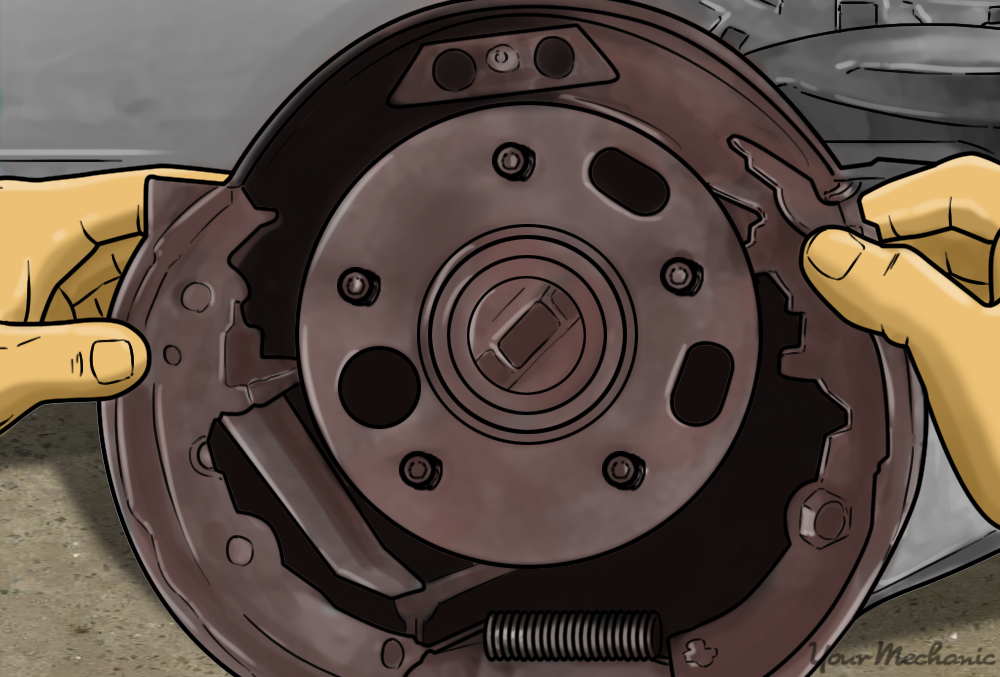 removing brake shoes