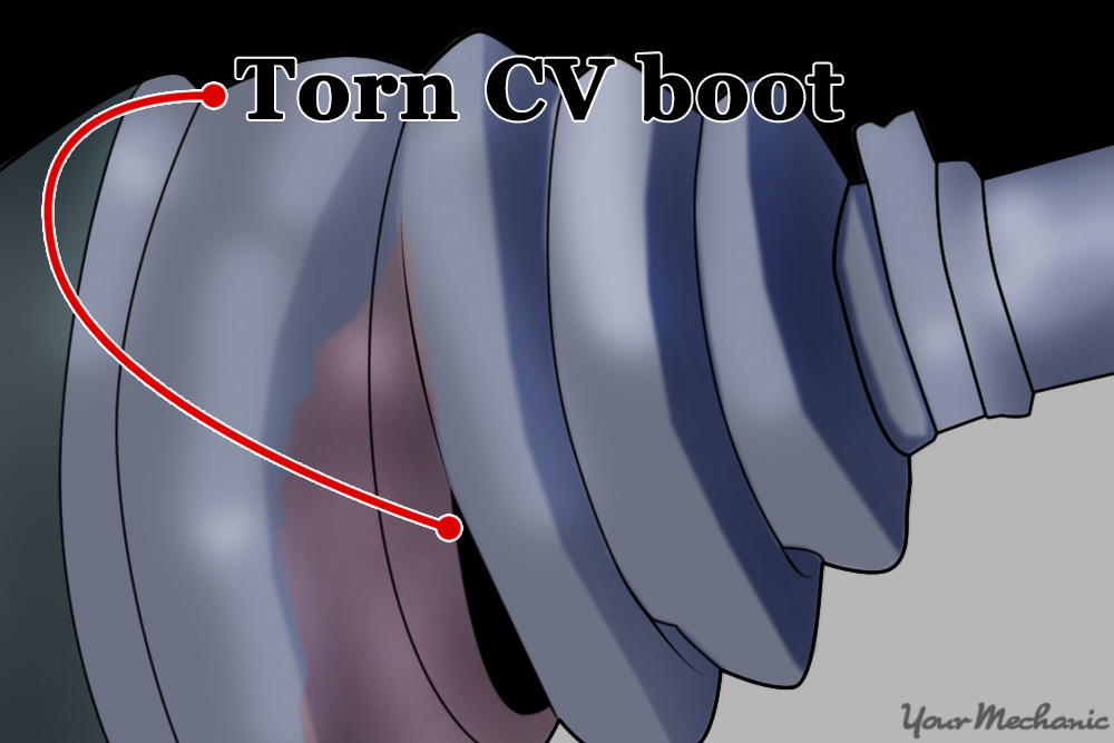 cv boot with grease everywhere
