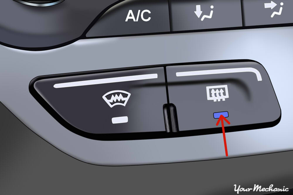 arrow indicating heater control