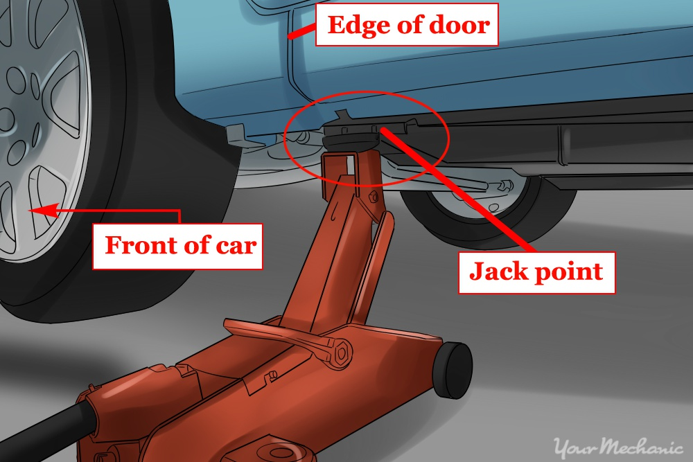 floor jack under vehicle