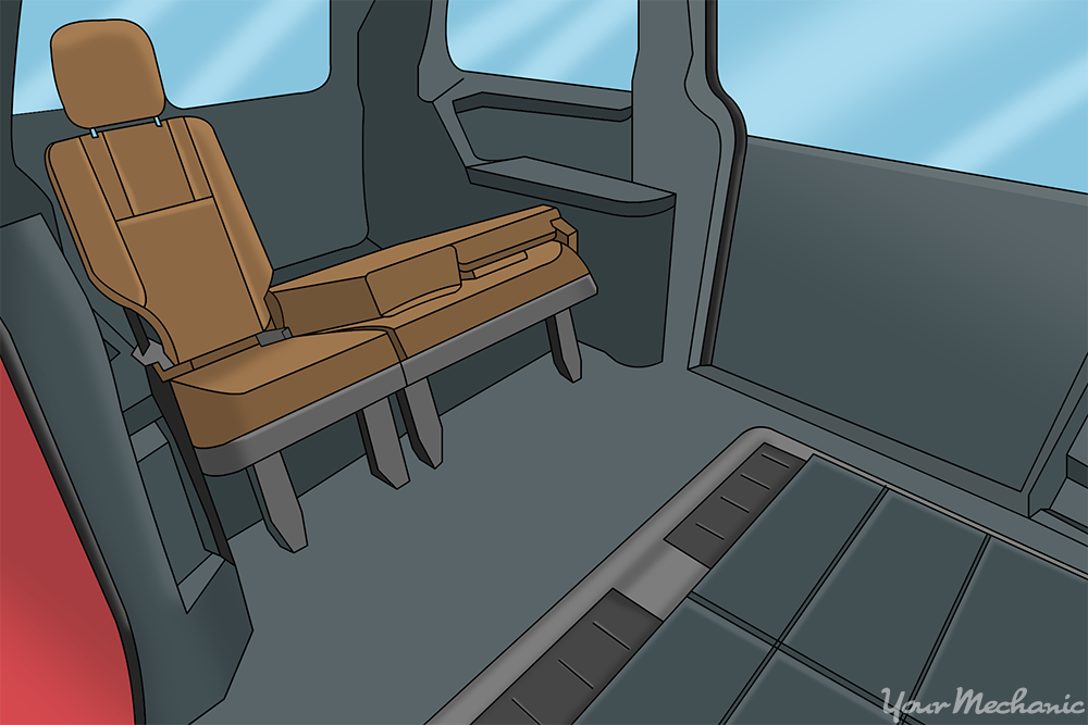 compartments and carpet put back