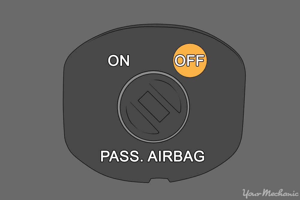 close up of air bag switch