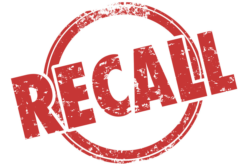 Recalls of the week