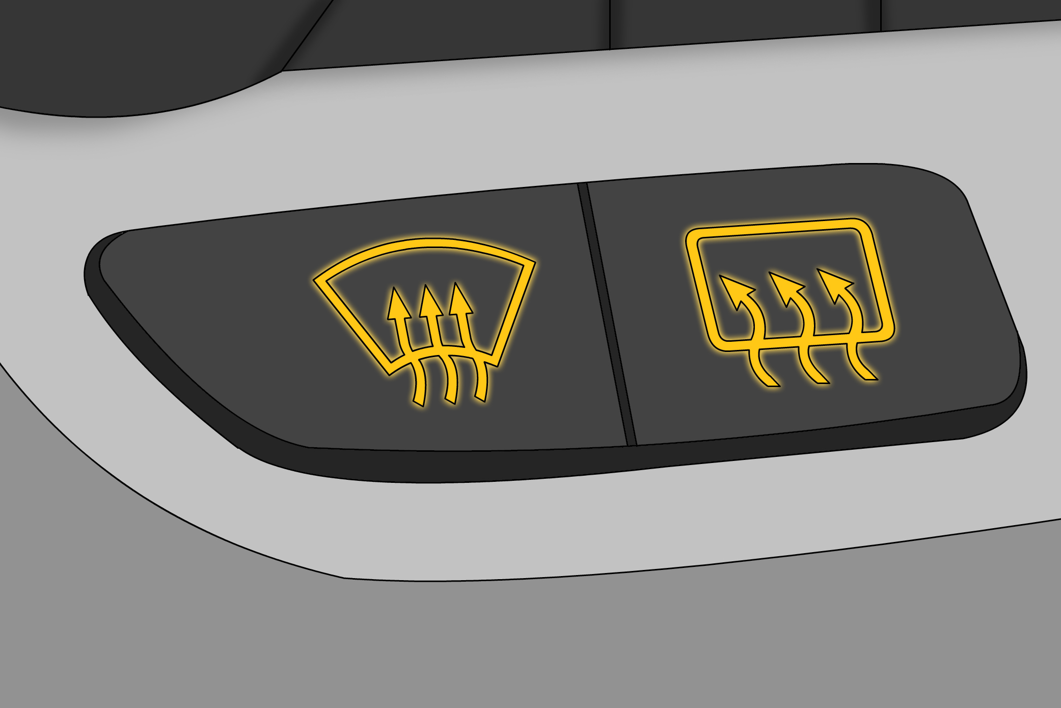 What Does The Defrost Indicator Front And Rear Warning Light Mean Mitsubishi