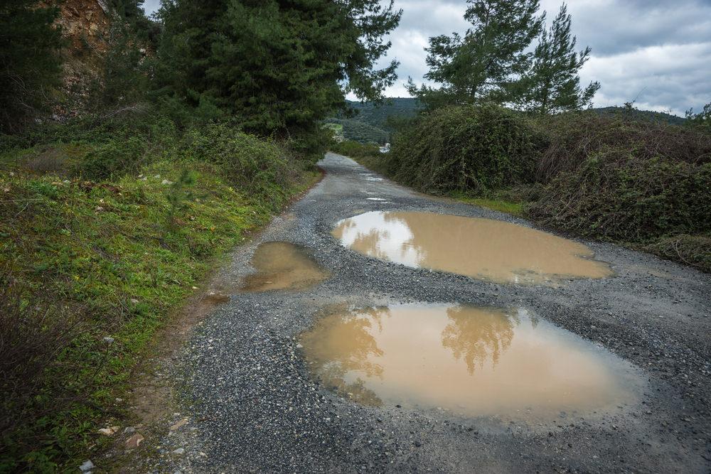 exhaust bad roads
