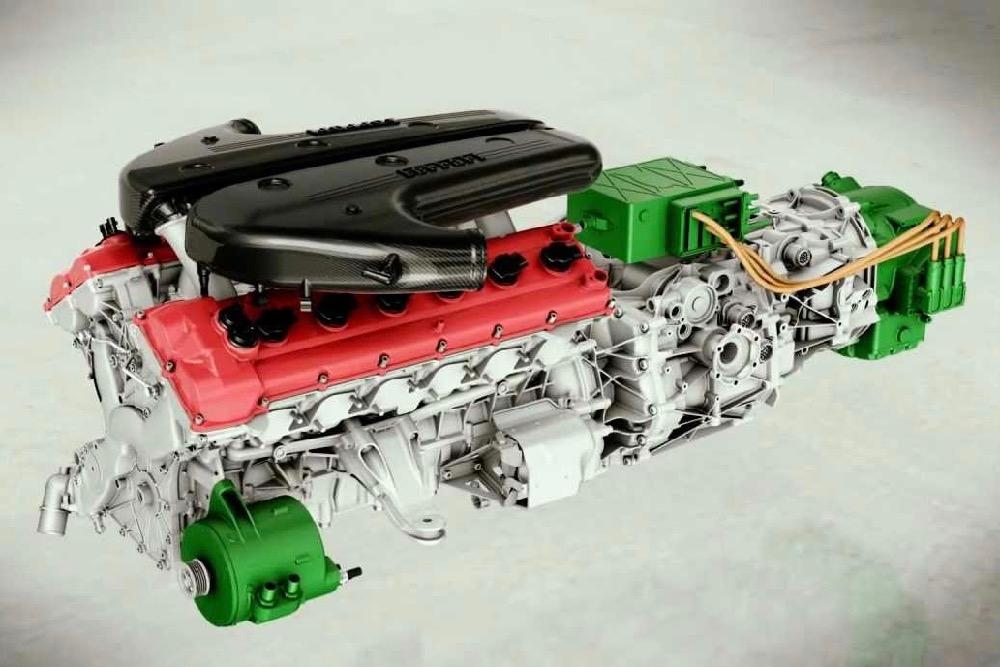 Ferrari Hybrid V12 Engine