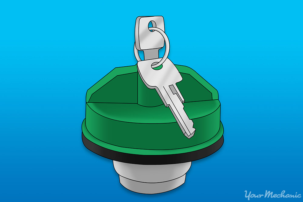 gas cap with a key