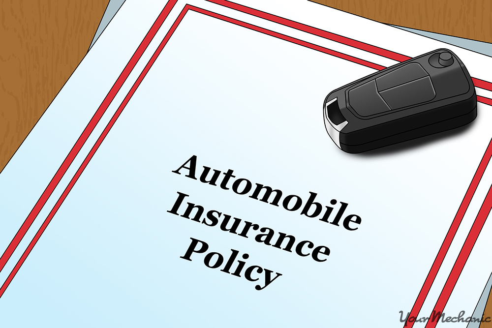 car insurance plan with car keys ontop