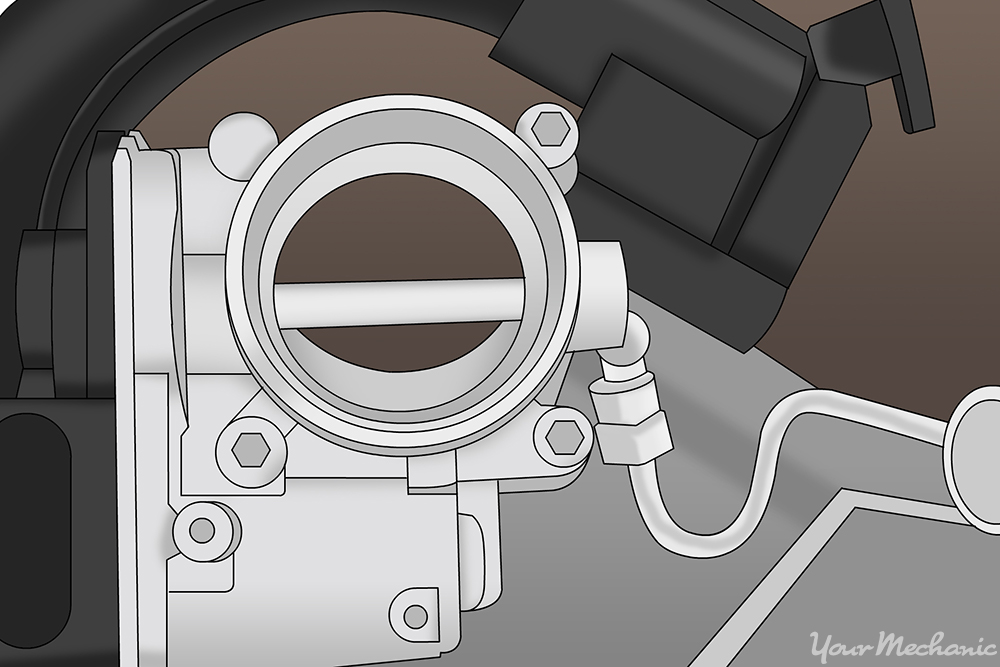 throttle body inside the engine compartment