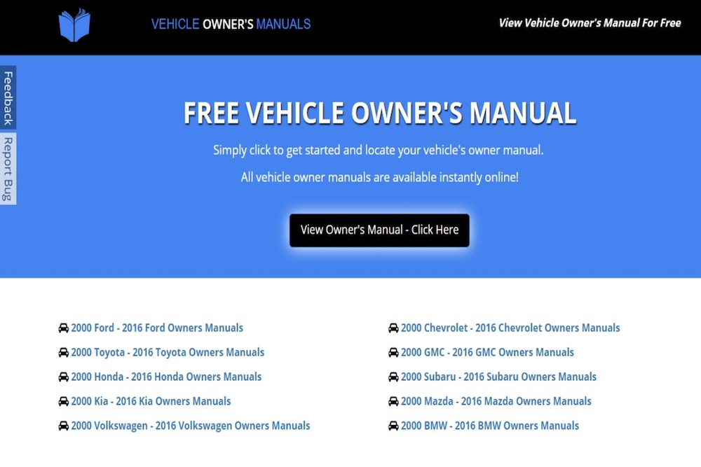 how to find a manual for a used car yourmechanic advice rh yourmechanic com Sample User Manual Sample Operations Manual