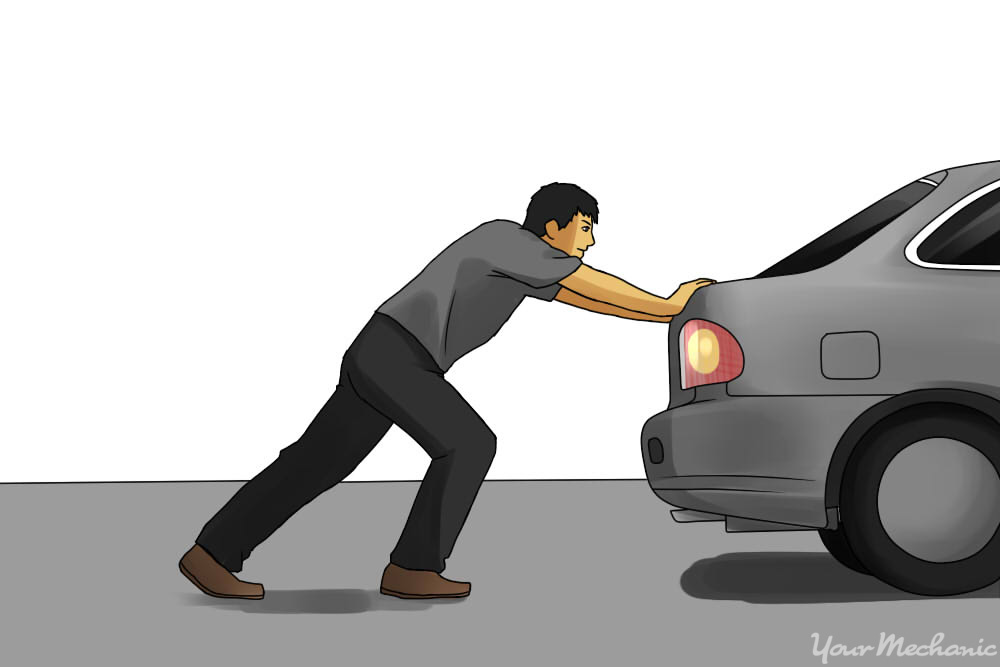 pushing a stalled car