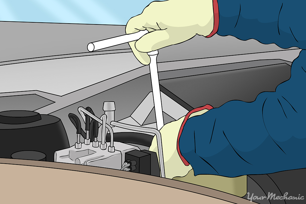 accessing a fuel injector