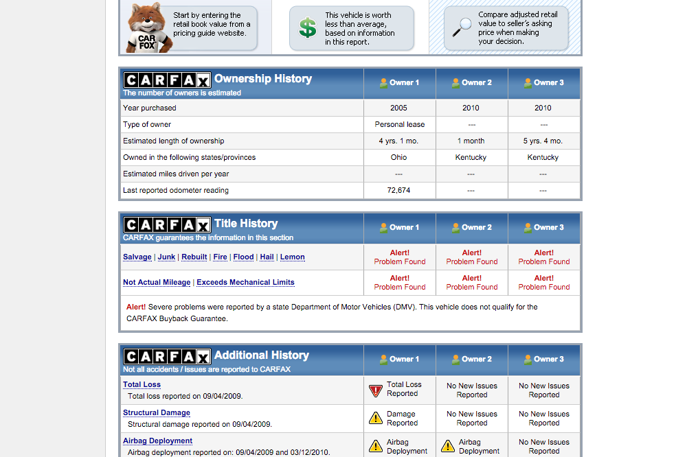 Free Carfax Hack >> Free Carfacts Report | Carsjp.com