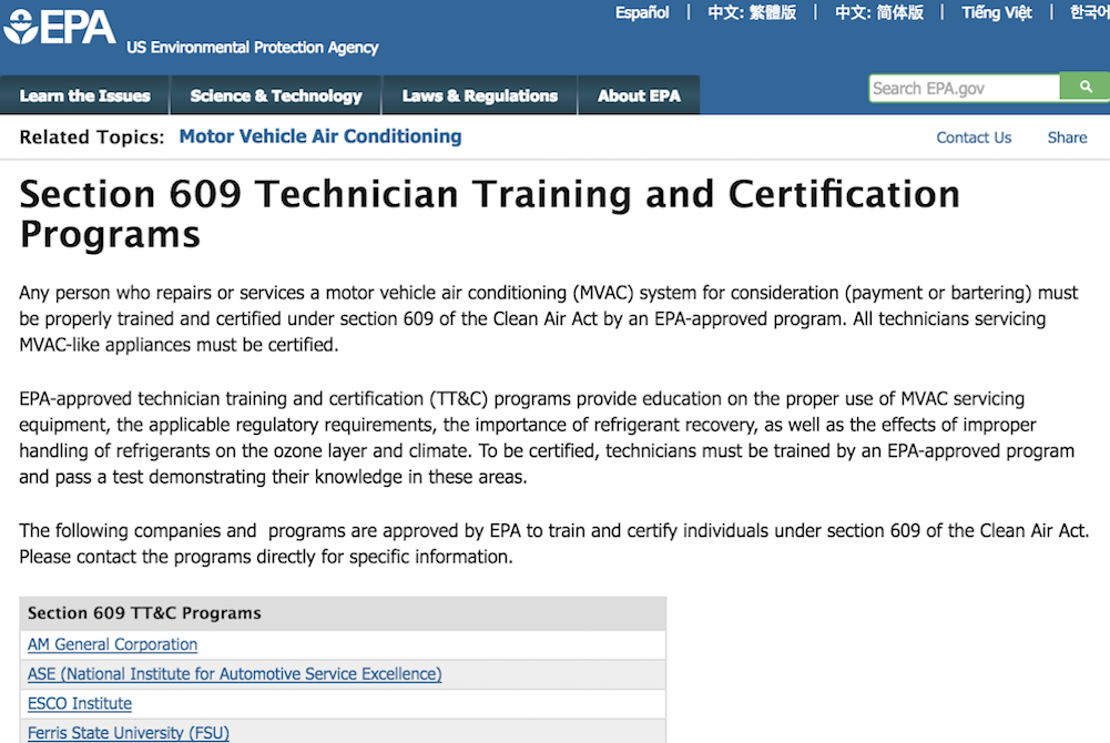How To Get An Epa Technician Certification Yourmechanic Advice