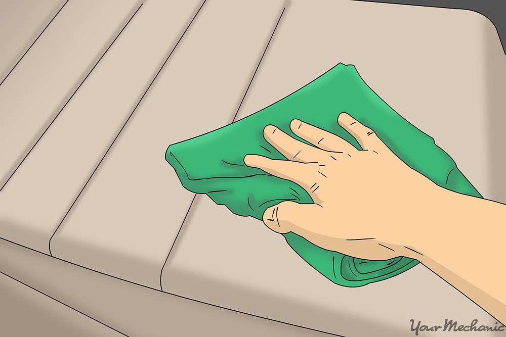 hand blotting fabric