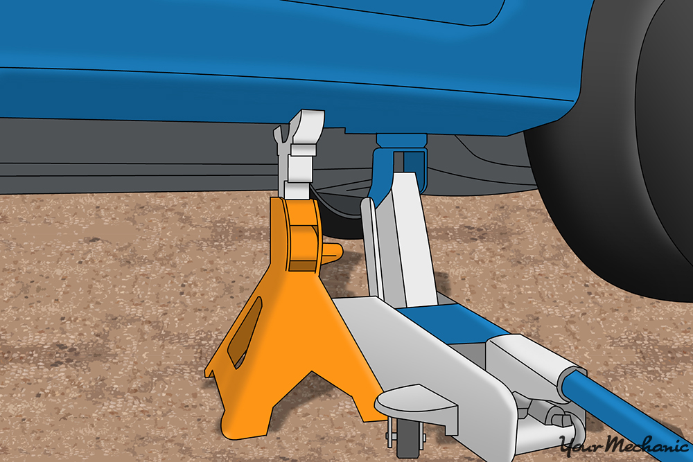 hydraulic jack and jack stands