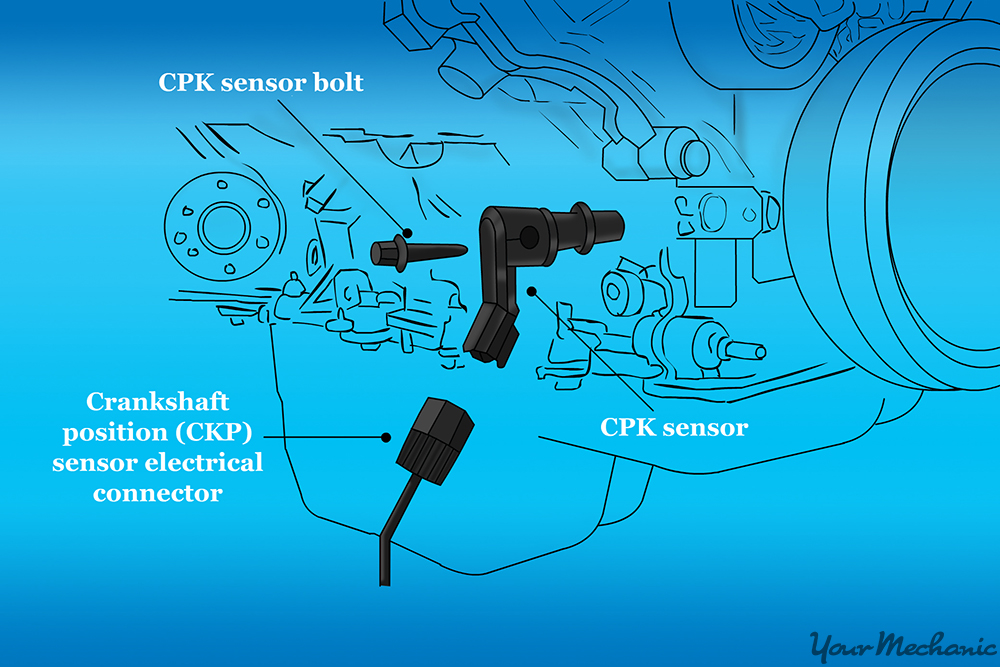 diagram of engine with crankshaft position sensor