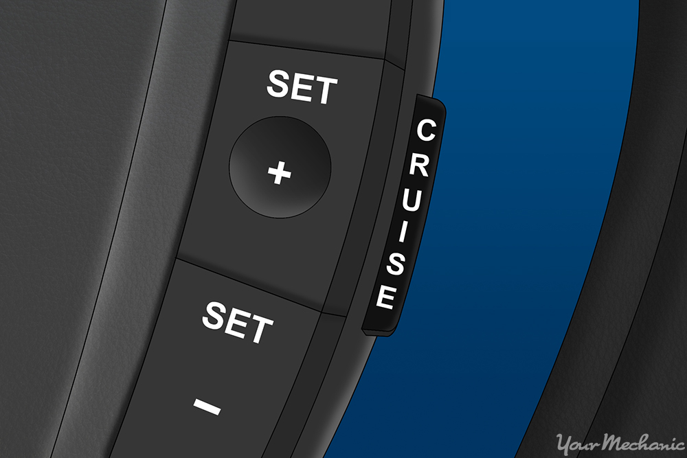 cruise control display on steering wheel