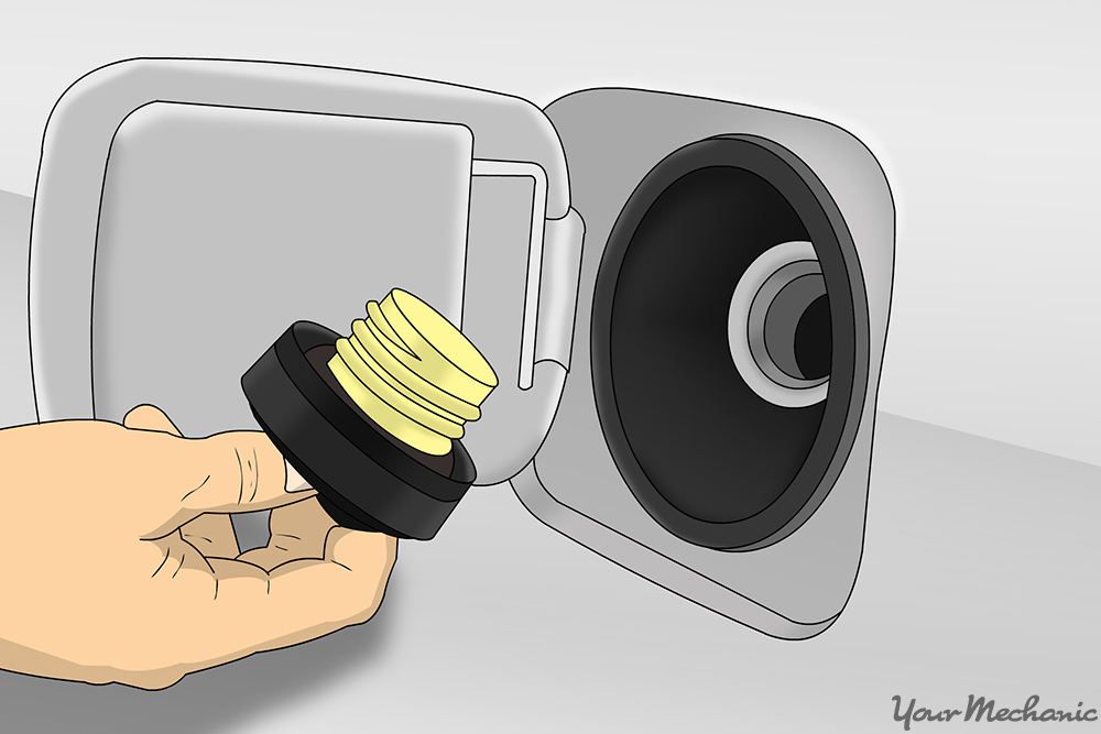 How To Replace A Fuel Filler Neck Fuel Cap Removed From The Opening Of The Tank on Honda Accord Fuel Filter Location Car Pictures
