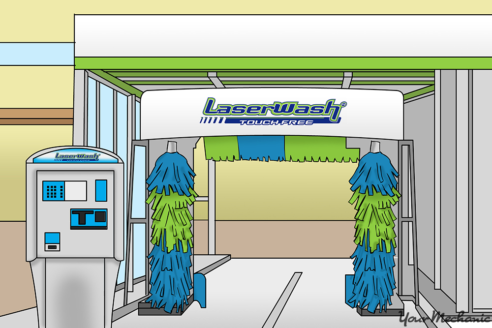 laserwash payment station