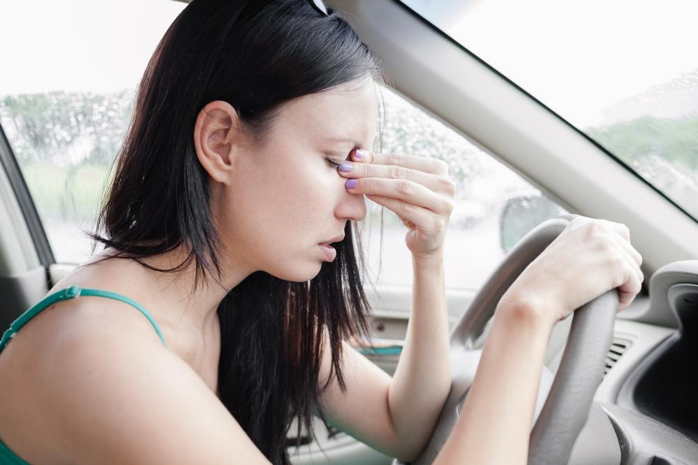 Migraine while driving
