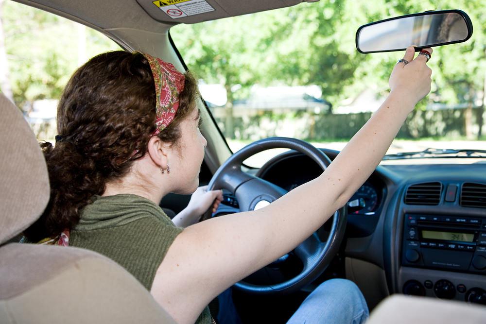Rearview mirror adjustment