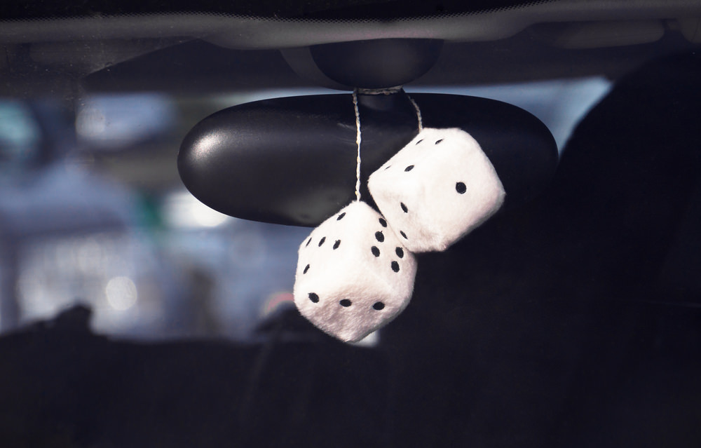 Rearview mirror dice