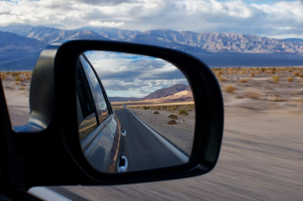 Rearview mirror view