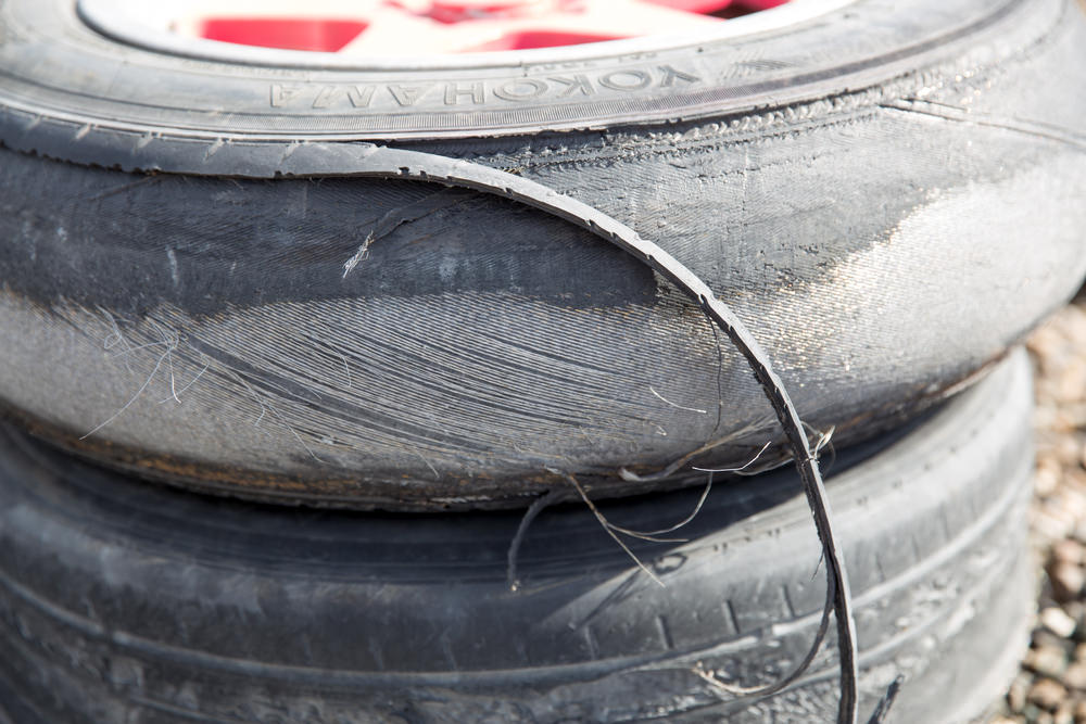 bald worn out tires