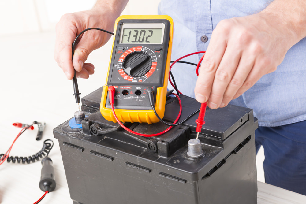 how to check the voltage of a car battery yourmechanic advice. Black Bedroom Furniture Sets. Home Design Ideas