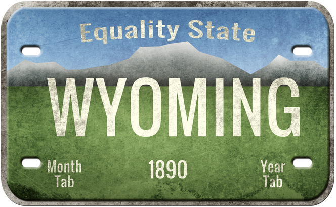 How to Buy a Personalized License Plate in Wyoming